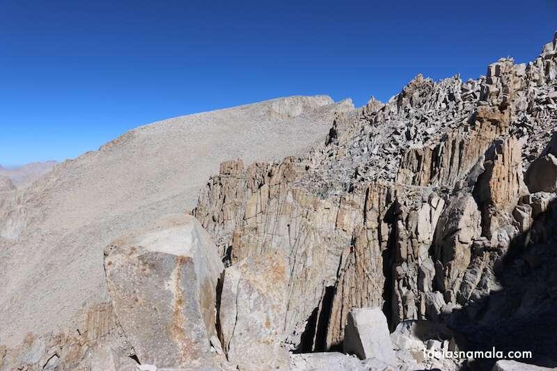 Última parte da trilha do Mount Whitney