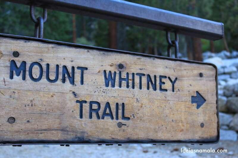 Ponto de início da trilha do Mount Whitney