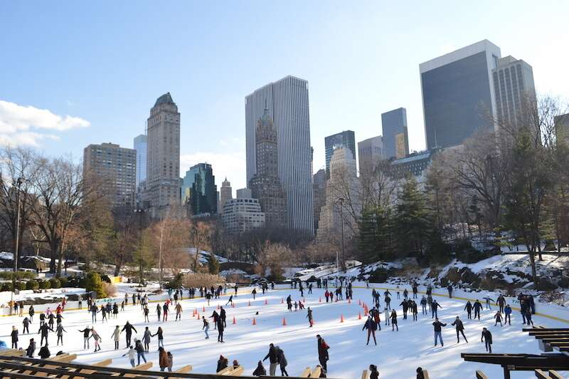 Patinação no gelo no Central Park