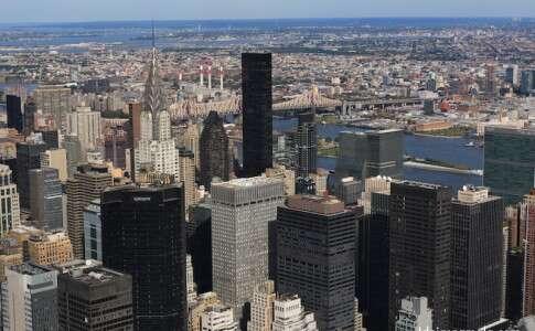Skyline de Nova York visto do alto do Empire State