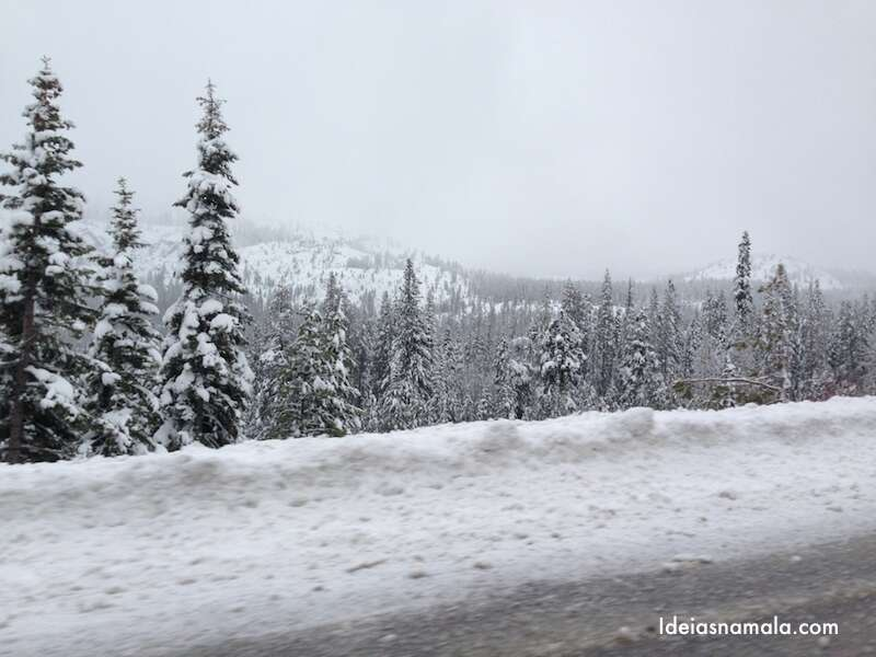 Tahoe - Neve na estrada