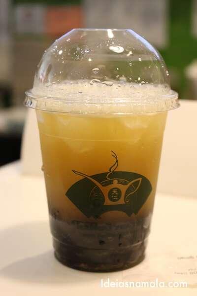Bubble Tea de pêssego - Ten Ren's