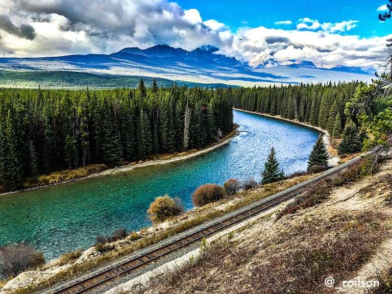 Bow valley parkway em Banff no roteiro pelo Canadá
