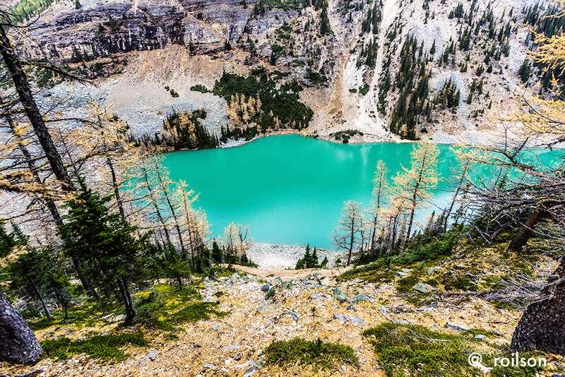 Lake Agnes visto do alto