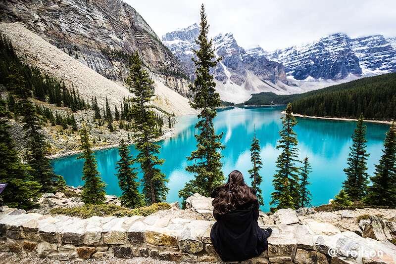 Lake Morraine no nosso roteiro pelo Canadá