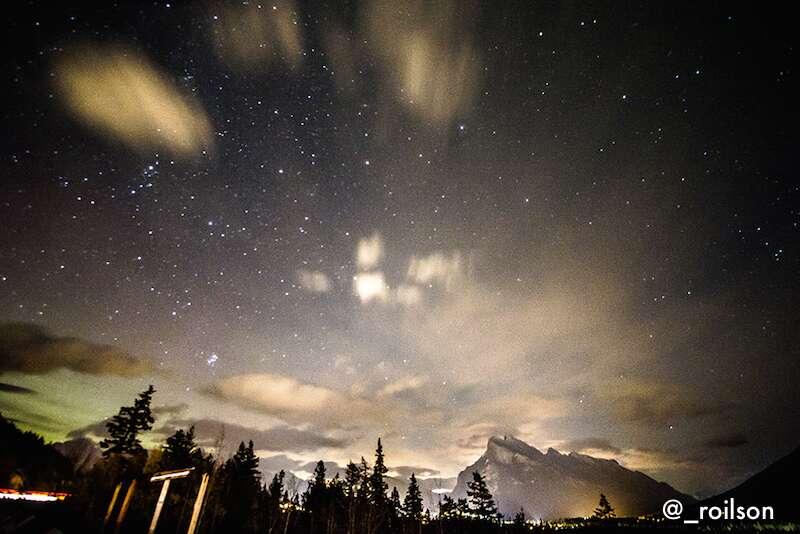 Noite em Banff