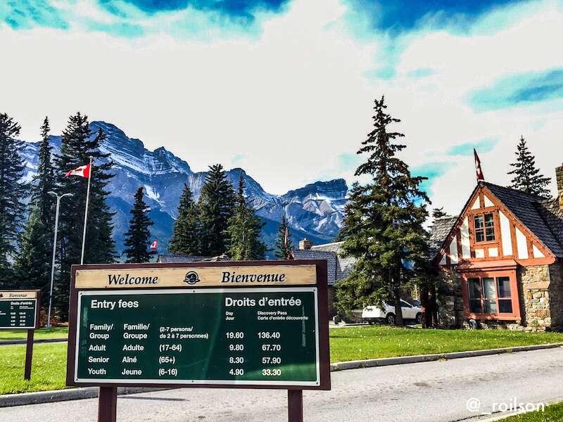 Entrada do Parque - Banff Canadá