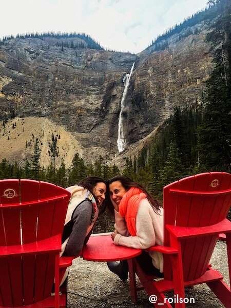 share the chair takakkaw falls
