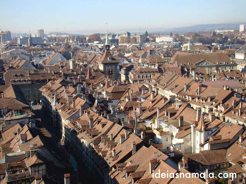 Berna vista do alto da igreja