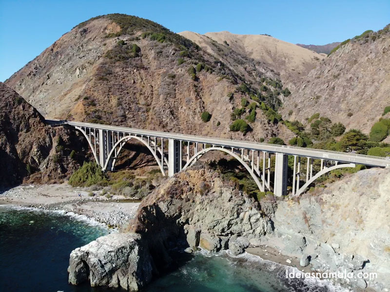 Big Creek Bridge em Big Sur