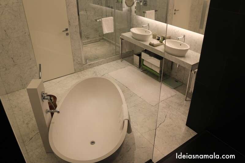 Banheiro do Mandarin Oriental Milão