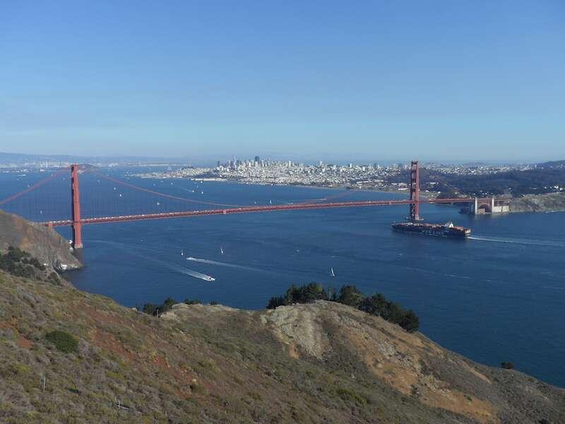 Golden Gate vista de Marin Headlands