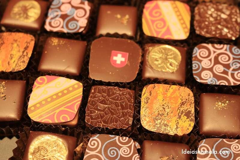 Degustação de chocolates - Suíça
