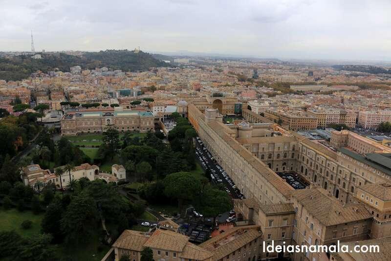 Vista do alto da Cúpula do Vaticano