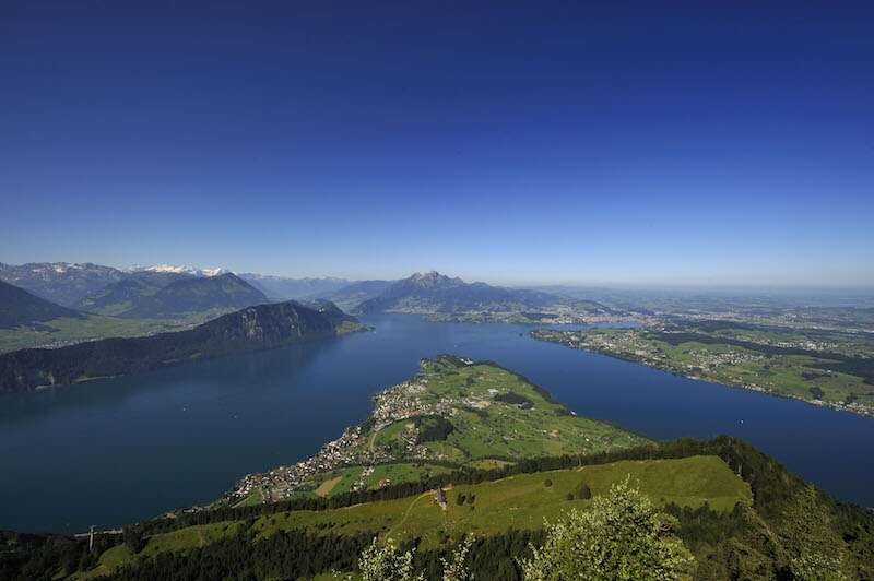 Subida para o Mount Rigi - Suíça