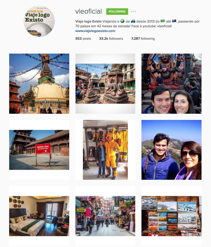 Instagram - Perfis de viagem que eu amo