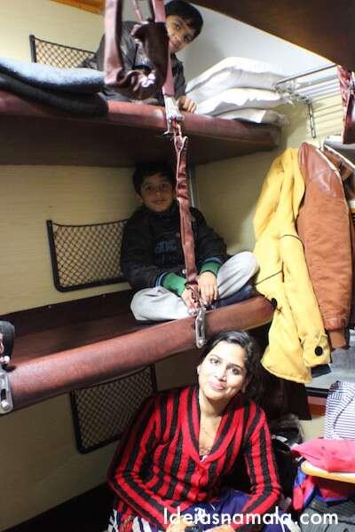 Trem noturno na Índia
