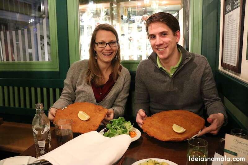 Schnitzel em Viena