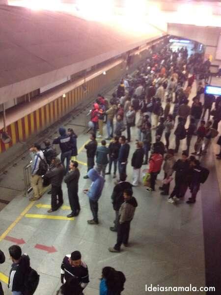 metrô em Nova Delhi