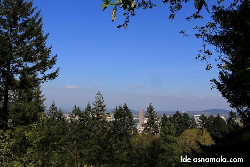 ideias para jardim japones:Skyline de Portland – Pena que o Mount Hood não apareceu por lá