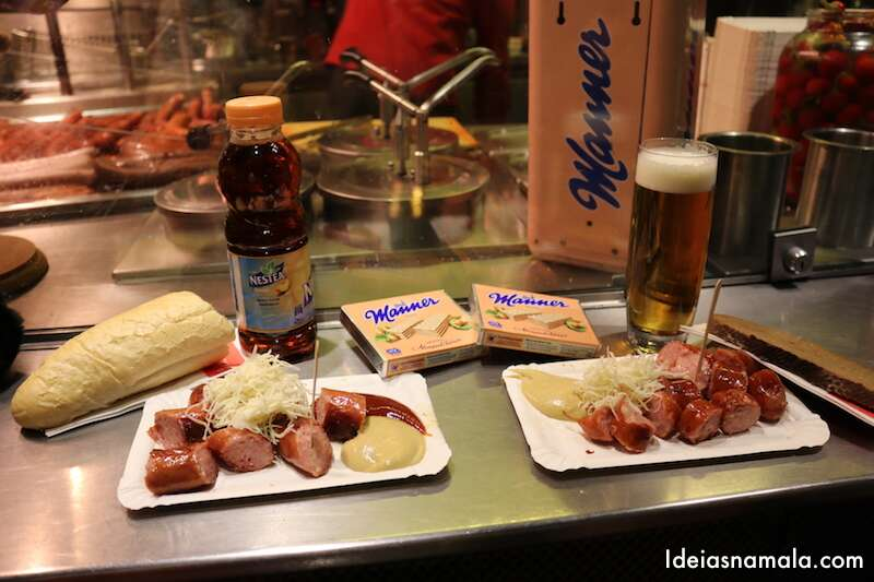 Linguiça & cerveja no Bitzinger