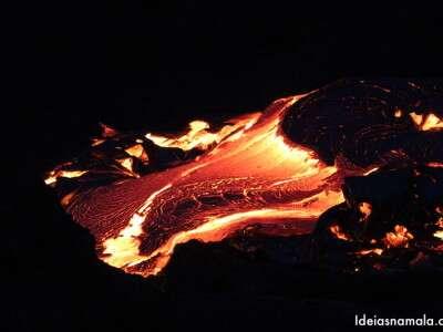 Lava do vulcão Kilauea