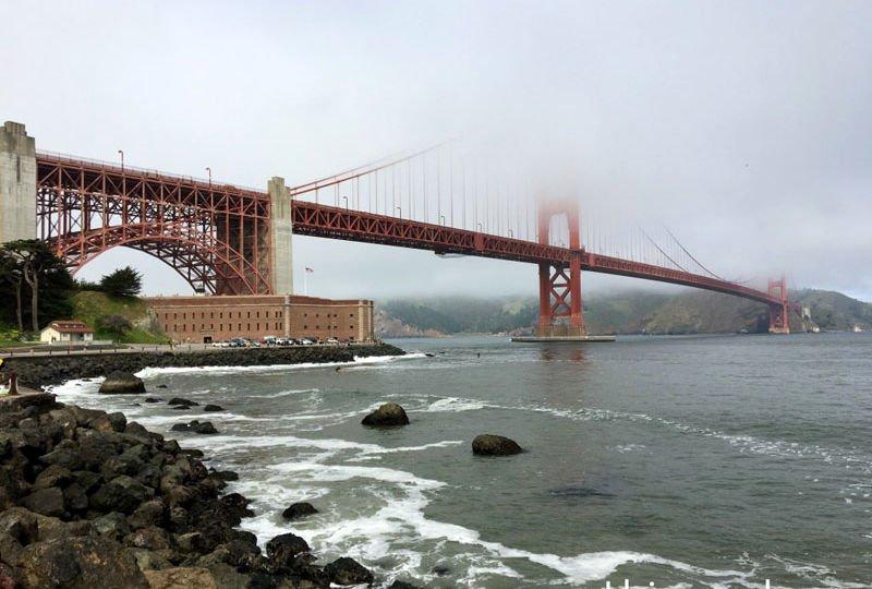 Golden Gate Bridge e o Fort Point: Que lugar lindo para tirar fotos