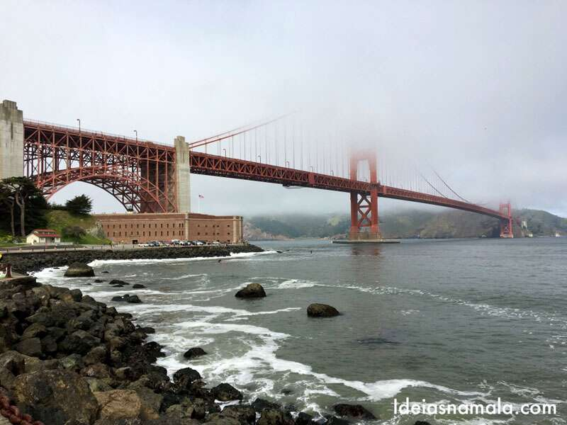 Golden Gate Bridge e o Fort Point: Que lugar lindo para tirar fotos