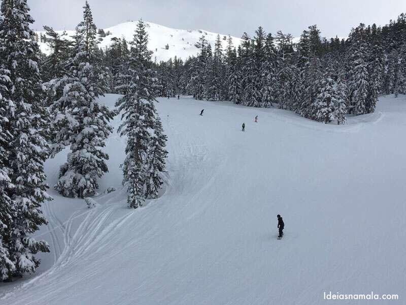 Esqui em Kirkwood na Califórnia