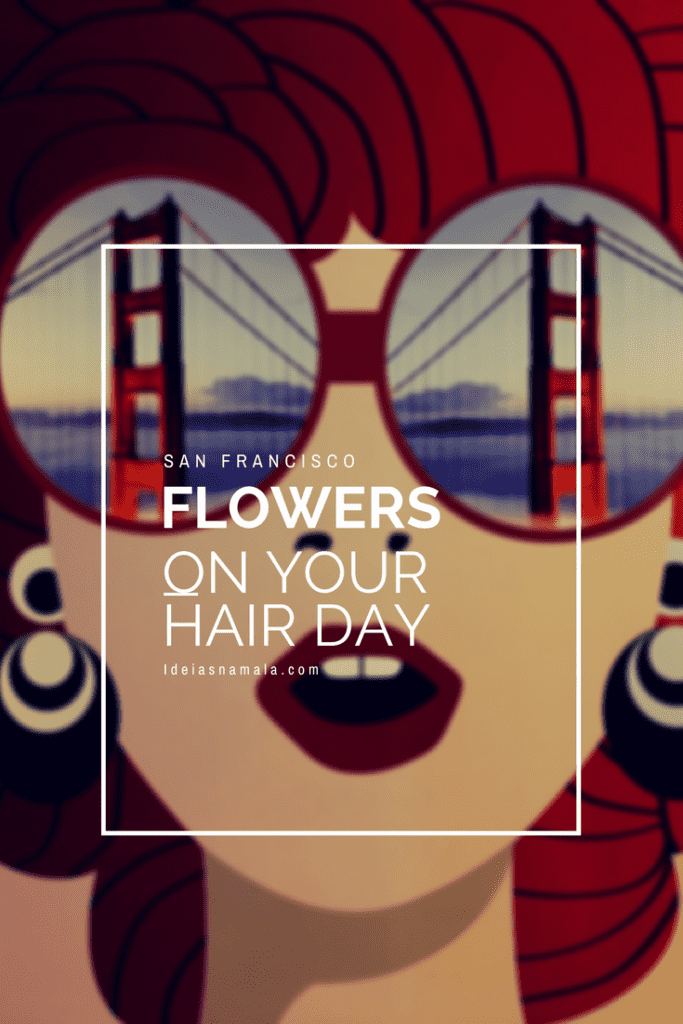 Flowers on your hair Day no aeroporto de San Francisco