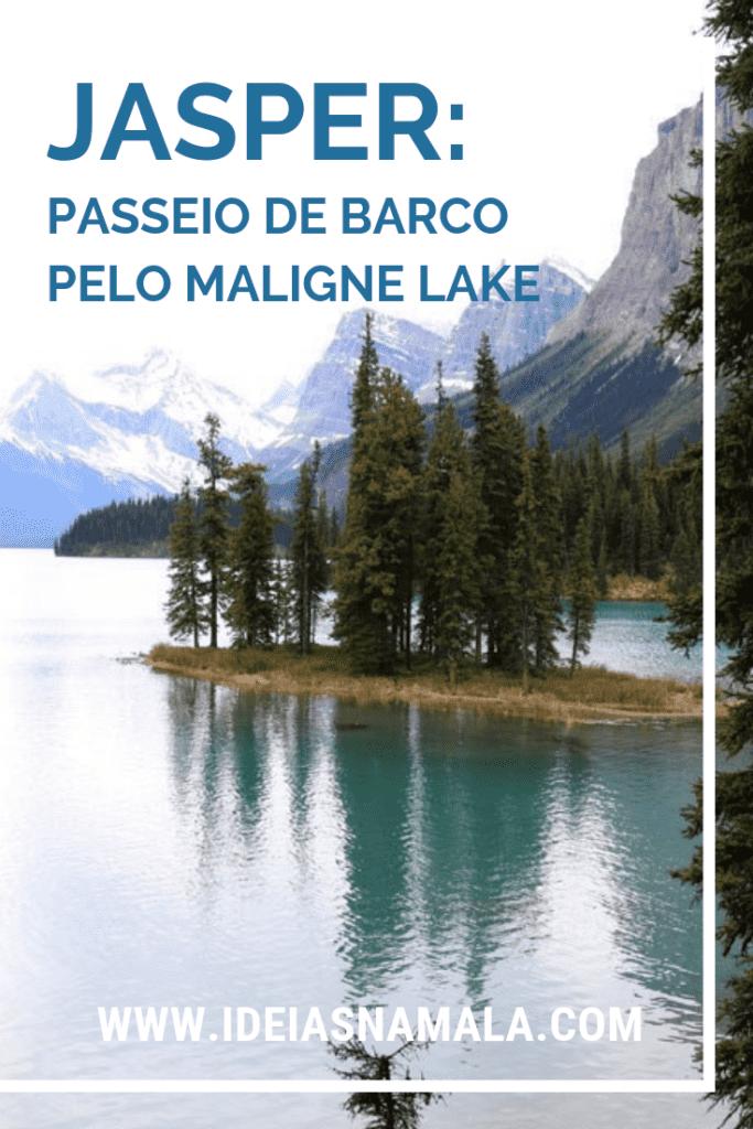 passeio de barco pelo Maligne Lake