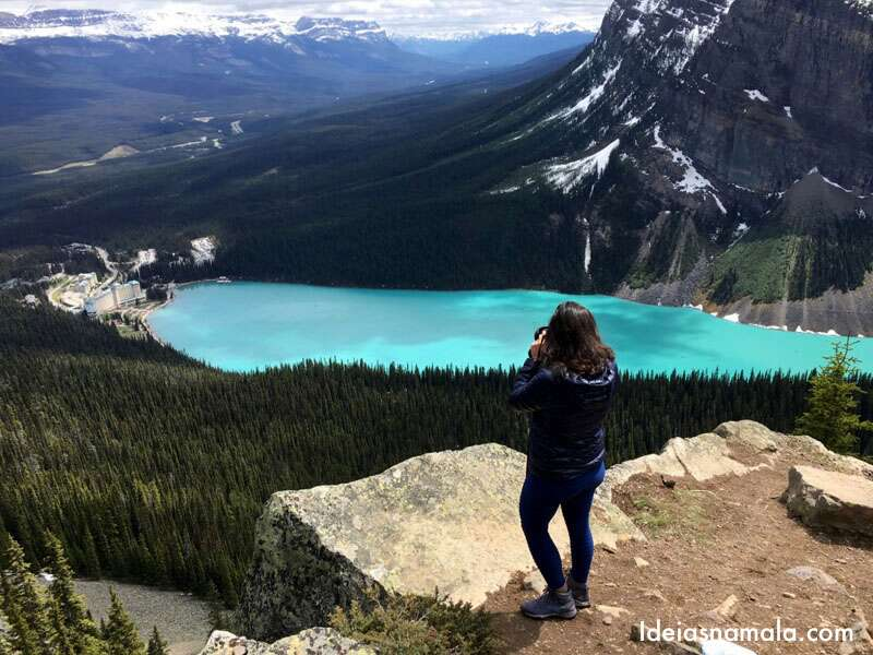 Lake Louise visto do alto do Little Beehive