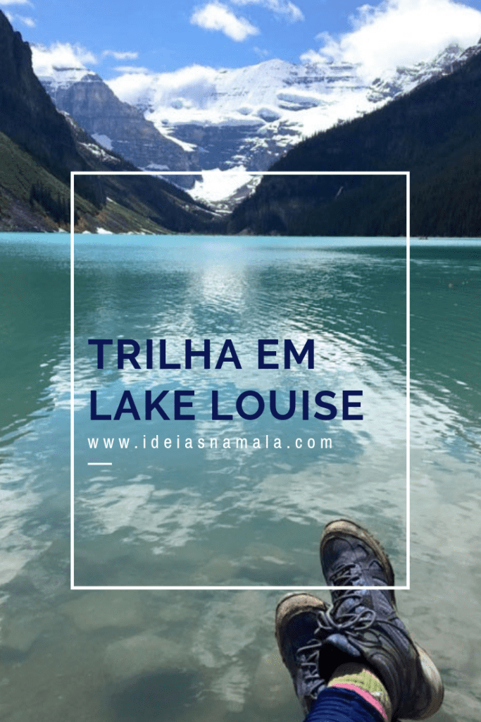 Trilha em Lake Louise no pinterest