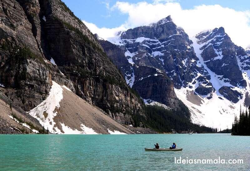 Lago Moraine um dos lagos mais lindos do Canada