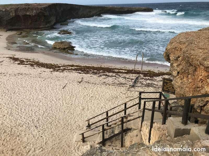Boca Ketu Beach, uma das praias desertas do Arikok National Park em Aruba