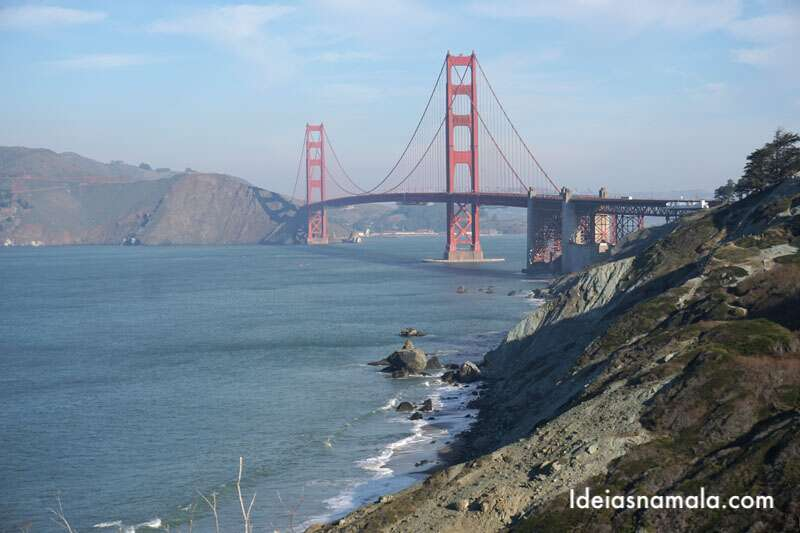 Golden Gate Bridge vista do Battery Cros