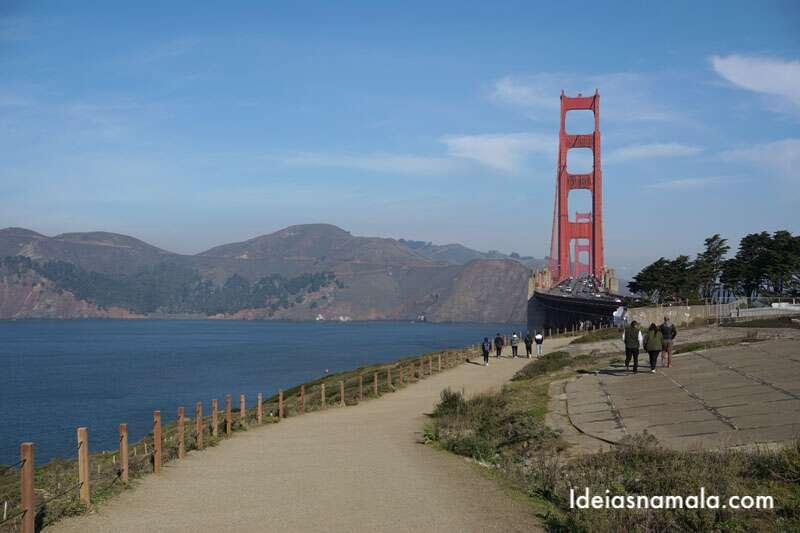 Golden Gate de bicicleta e Parque Presidio