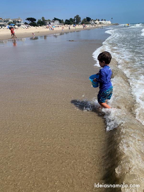 Padaro Beach em Carpinteria, cidade vizinha de Santa Barbara