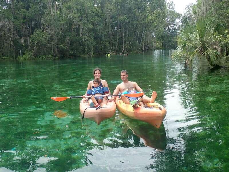 Fontes de água cristalina da Flórida