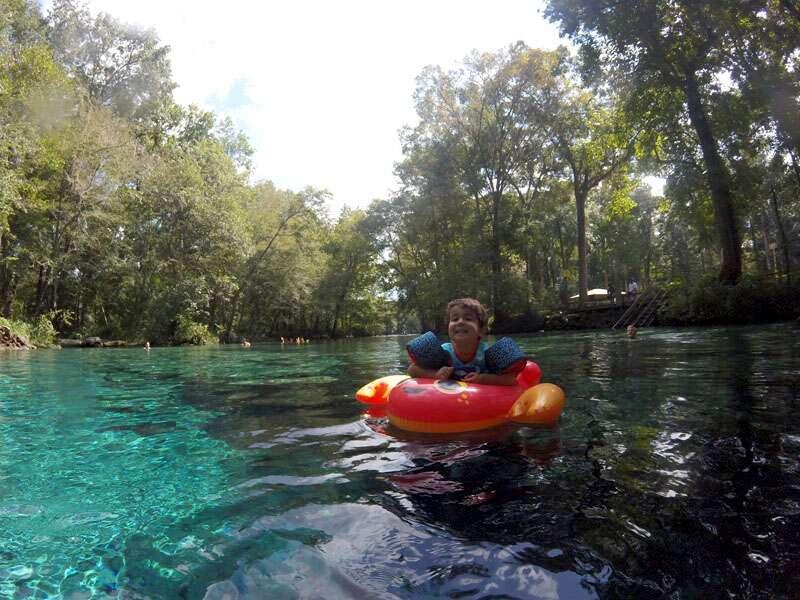 Fontes de água cristalina na Flórida