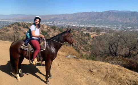 Passeio de cavalo em Hollywood