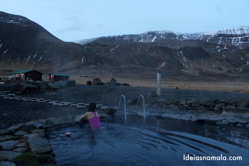 Piscinas termais na Islândia