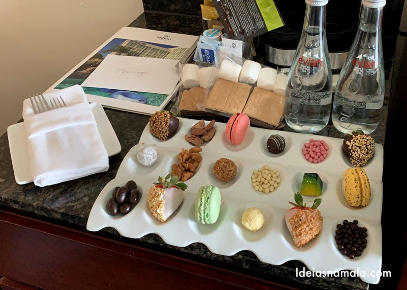 Docinhos deixados no quarto do Hilton Orlando