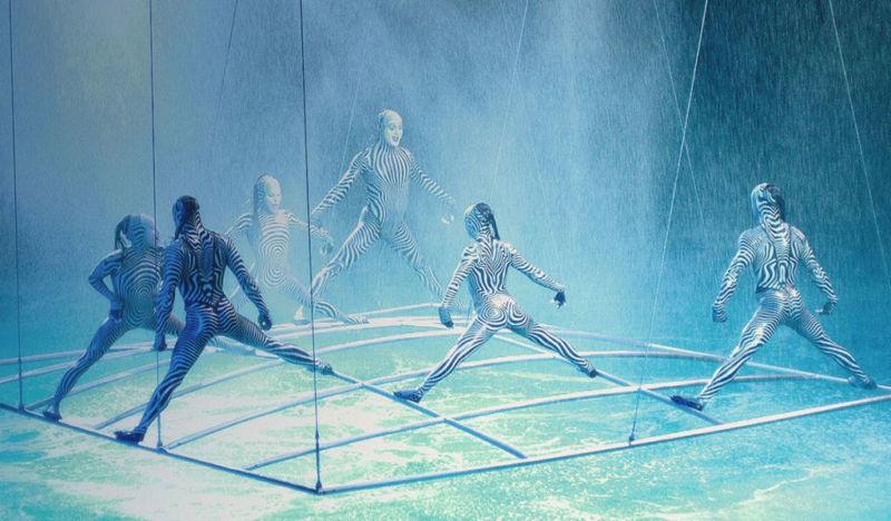 O, o show aquático do Cirque du Soleil em Las Vegas