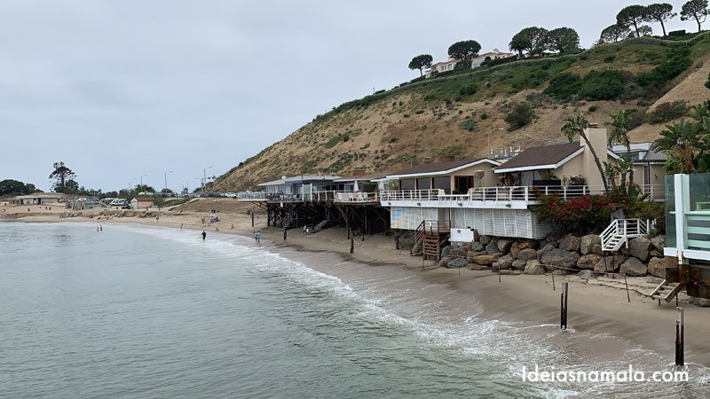 Surfrider Beach vista do Malibu Pier