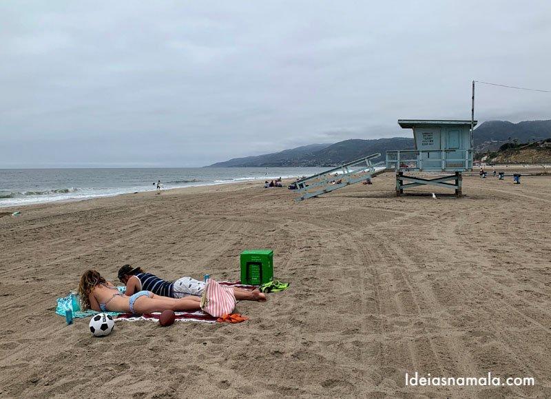 Zuma Beach em Malibu na Califórnia