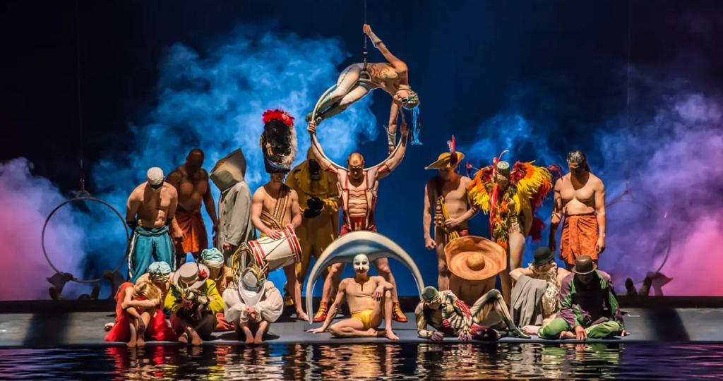 O, o espetáculo aquático do Cirque du soleil las vegas