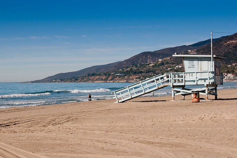 Point Dume Beach em Malibu, Califórnia