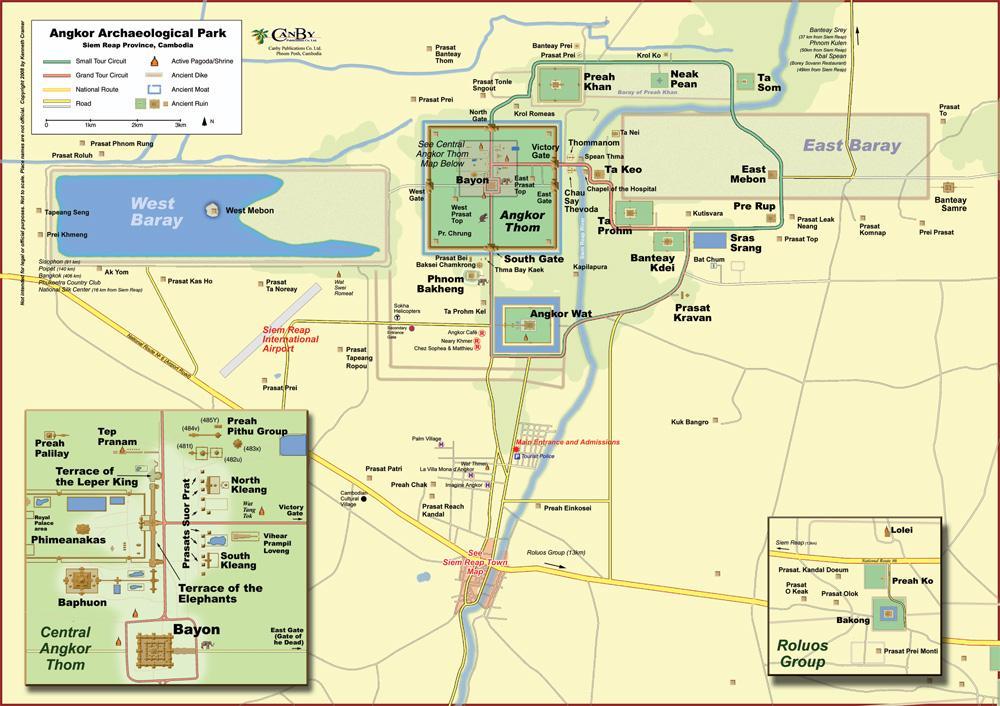 Mapa do Angkor Wat