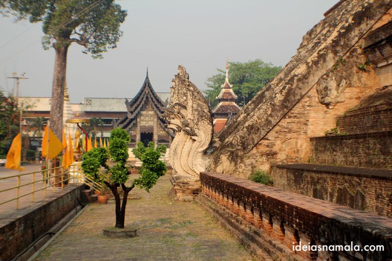 O que fazer em Chiang Mai - Templo Wat Chedid Luang